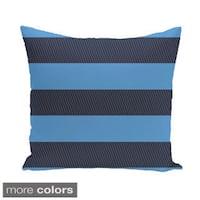 Contrasting Stripes 20-inch Square Decorative Pillow