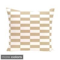 Checkered Stripes 26-inch Square Decorative Pillow