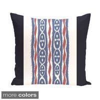Tribal Stripes 26-inch Square Decorative Pillow
