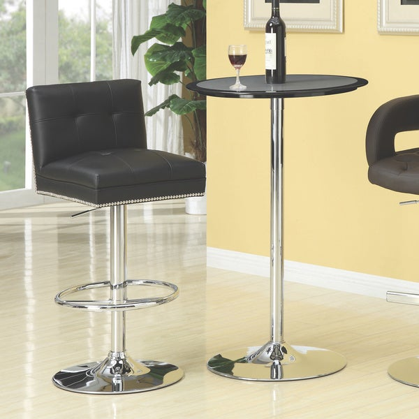 Shop Coaster Company Chrome Black Adjustable Height Chair