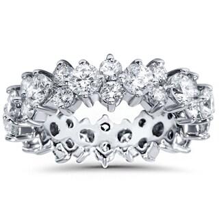 14k White Gold 3 1/4 ct TDW Diamond Eternity Wedding Band (I-J,I2-I3)