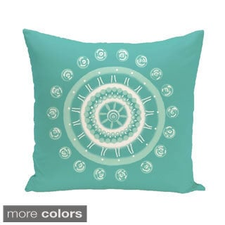 Floral Burst Geometric 26-inch Square Decorative Pillow
