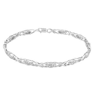 Divina Sterling Silver 1/8ct TDW Diamond Fashion Bracelet (H-I, I2-I3)