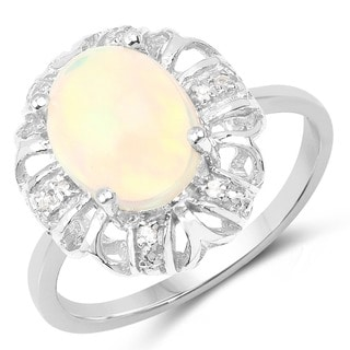 Olivia Leone Sterling Silver 1.70 Carat Gemstone Ring