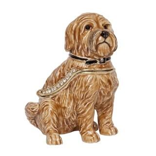 Wheaten Terrier Trinket Box with Pendant