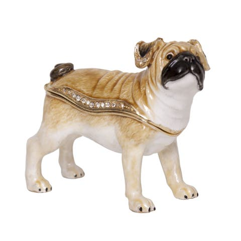 Pug Trinket Box with Pendant from Versil