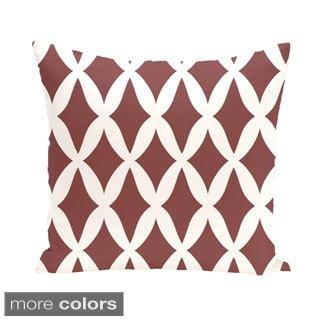 Geometric Lattice 26-inch Square Decorative Pillow