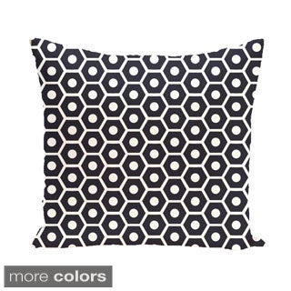 Geometric Honeycomb 26-inch Square Decorative Pillow
