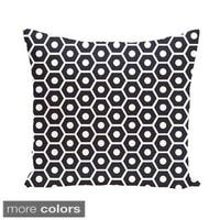 Geometric Honeycomb 26-inch Square Decorative Pillow