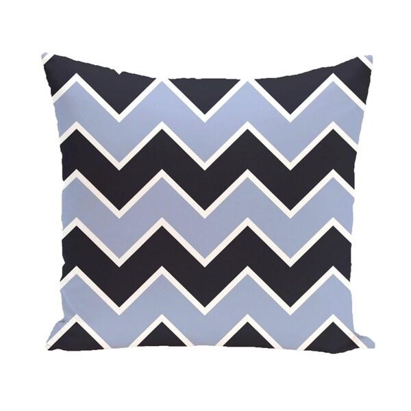 Chevron Geometric 26-inch Square Decorative Pillow