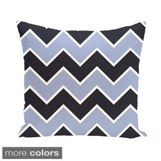 Chevron Geometric 26-inch Square Decorative Pillow