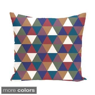 Geometric Mixed Triangle 26-inch Square Decorative Pillow