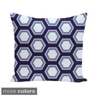 Bold Honeycomb Geometric 26-inch Square Decorative Pillow