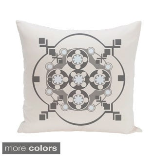 Abstract Geometric Burst 26-inch Square Decorative Pillow