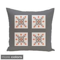 Geometric Abstract Floral Burst 26-inch Square Decorative Pillow