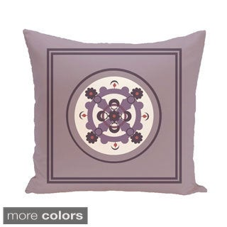 Bordered Abstract Geometric Burst 26-inch Square Decorative Pillow