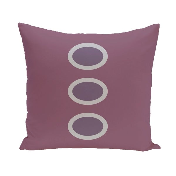 Three-dot Geometric 26-inch Square Decorative Pillow
