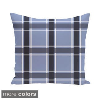 Geometric Plaid 26-inch Square Decorative Pillow