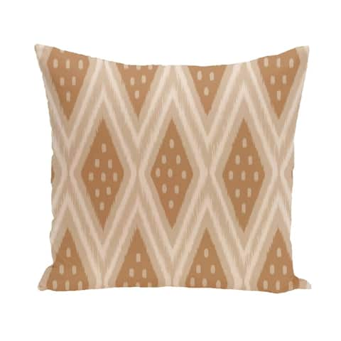 Tribal Diamond Geometric 26-inch Square Decorative Pillow