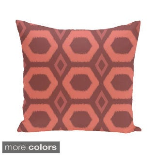 Large Geometric Honeycomb 26-inch Square Decorative Pillow