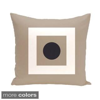 Bordered Geometric 26-inch Square Decorative Pillow