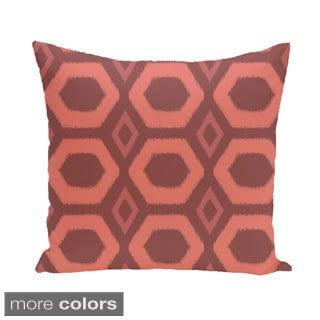 Large Geometric Honeycomb 20-inch Square Decorative Pillow