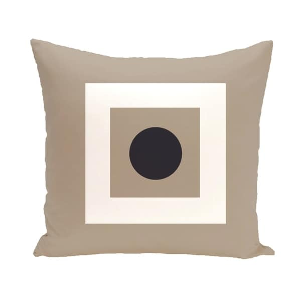Bordered Geometric 20-inch Square Decorative Pillow