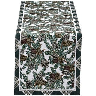 Design Imports Pinecone Table Runner