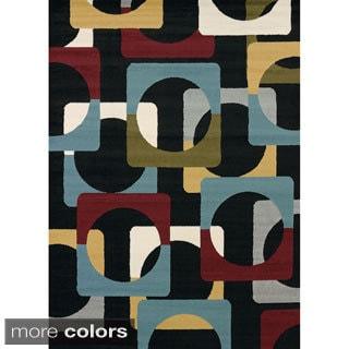 Tess Retro-style Area Rug (7'10 x 10'6)