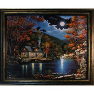 John Zaccheo 'Moonlight Retreat' Bronze Framed Art Print