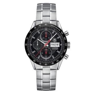 Tag Heuer Men's CV201AH.BA0725 Carrera Round Silvertone Bracelet Watch
