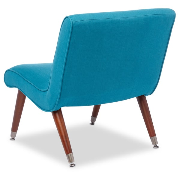 Mid Century Blue Teal Armless Chair   Free Shipping Today   Overstock.com    16979528