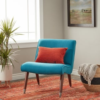 Palm Canyon Mid-century Blue Teal Armless Chair