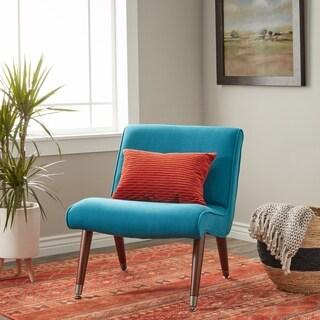 Carson Carrington Mid Century Blue Teal Armless Chair