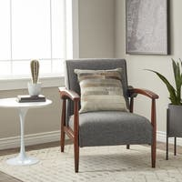 Strick & Bolton Gracie Mid Century Grey Arm Chair