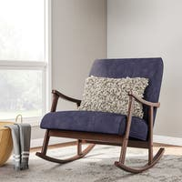 Carson Carrington Retro Indigo Wooden Rocking Chair