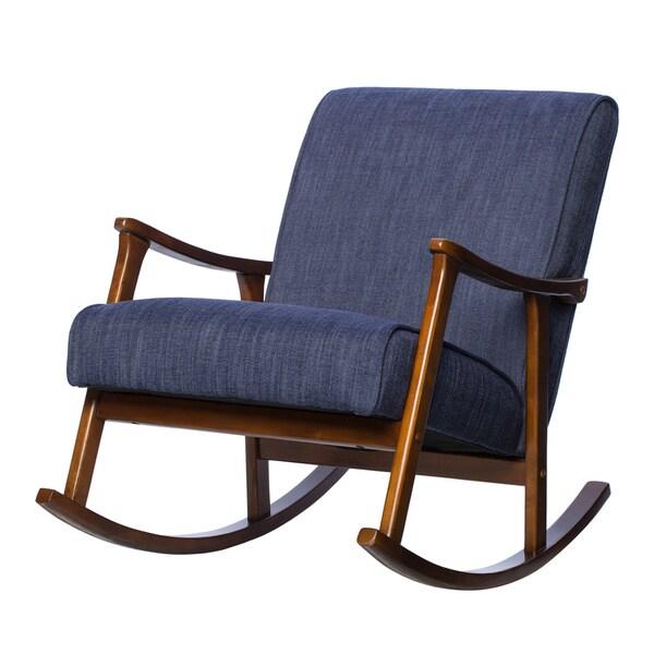 Retro Indigo Wooden Rocking Chair   Free Shipping Today   Overstock.com    16979532