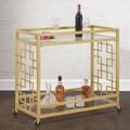Goldtone Metal Bar Cart