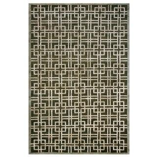"Grand Bazaar Hand-knotted Wool & Viscose Dim Sum Rug in Bonsai 7'-9"" x 9'-9"" - 7'9"" x 9'9"""