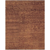 "Grand Bazaar Hand-knotted 100-percent Wool Pile Amzad Rug in Amber 7'-9"" x 9'-9"" - 7'9"" x 9'9"""
