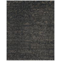 Grand Bazaar Hand-knotted 100-percent Wool Pile Amzad Area Rug in Charcoal (7'9 x 9'9)