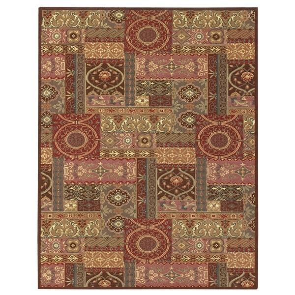 Grand Bazaar Tufted Wool & Viscose Artivia Rug in Rust 2' x 3' - 2' x 3'