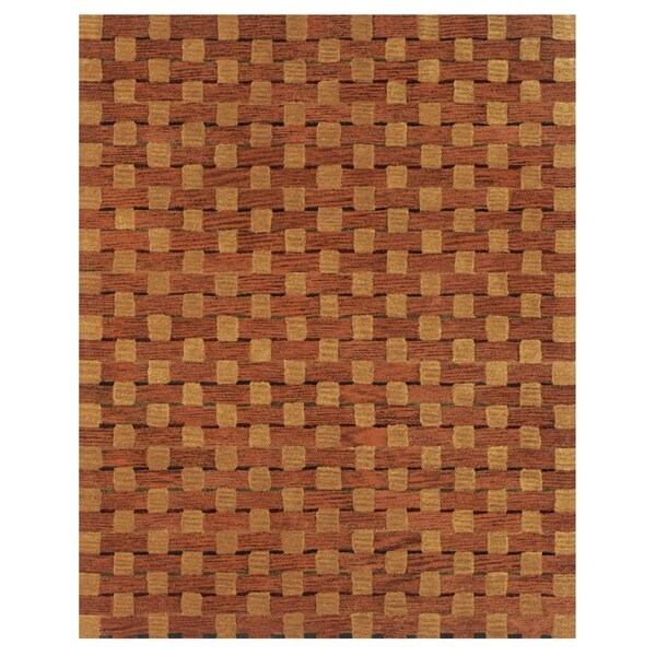 Grand Bazaar Tufted Wool & Viscose Contour Rug in Cinnamon - 5' x 8'