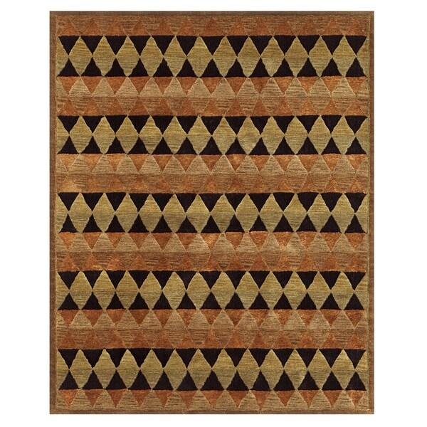 Grand Bazaar Tufted Wool & Viscose Contour Rug in Multi - 5' x 8'