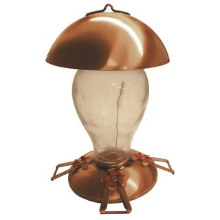 Gardman Premium Copper and Glass Hummingbird Feeder