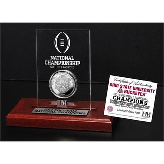 Ohio State 2014 College Football National Champions Silver Coin Etched Acrylic