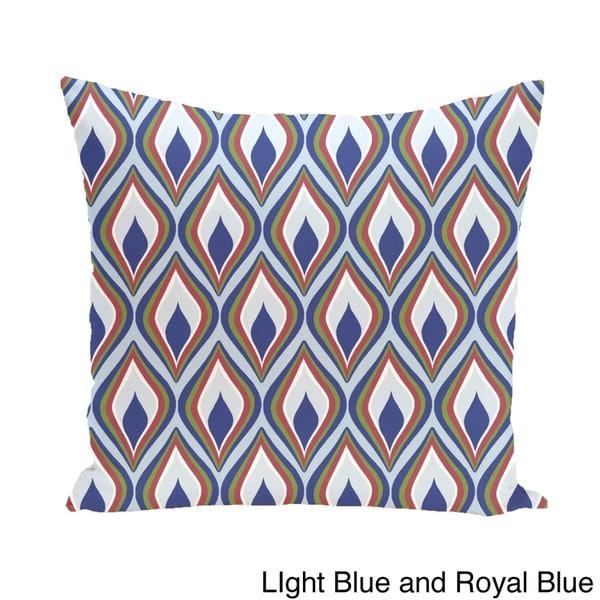 Abstract Diamond Geometric 18-inch Decorative Pillow
