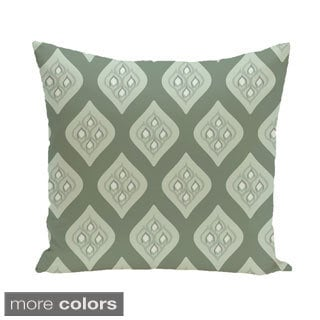 Abstract Lattice Geometric 16-inch Decorative Pillow
