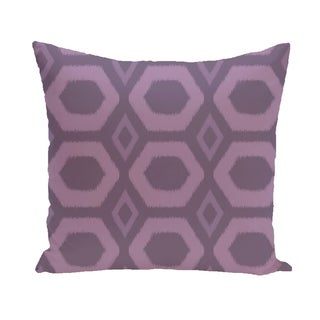 Bold Geometric Honeycomb 16-inch Decorative Pillow (Purple)