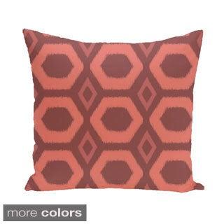 Bold Geometric Honeycomb 16-inch Decorative Pillow